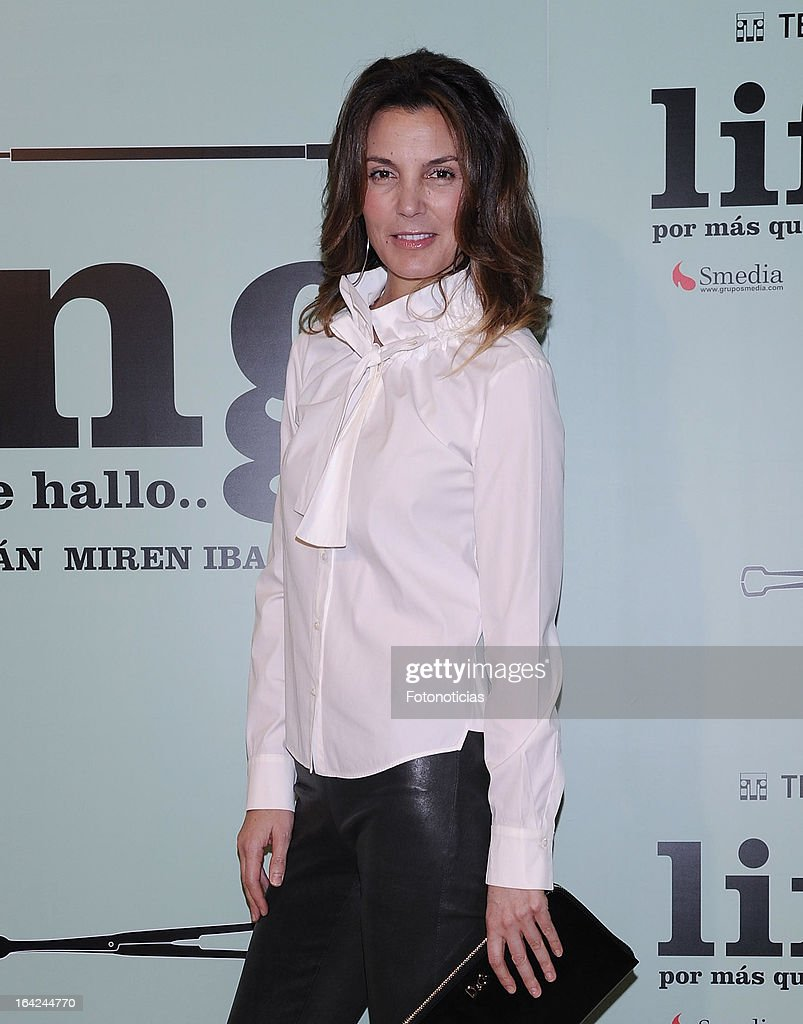 Mar Flores attends the premiere of 'Lifting' at the Infanta Isabel theatre on March 21, 2013 in Madrid, Spain.