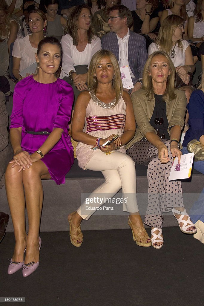 Mar Flores, Begona Traopte and Mar Garcia Vaquero attend a fashion show during the Mercedes Benz Fashion Week Madrid Spring/Summer 2014 on September 13, 2013 in Madrid, Spain.