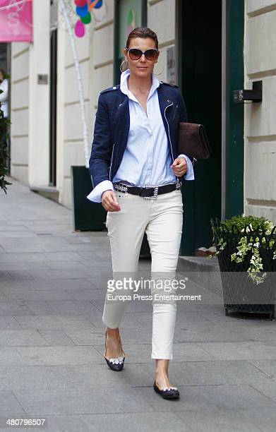 Mar Flores is seen on March 26 2014 in Madrid Spain