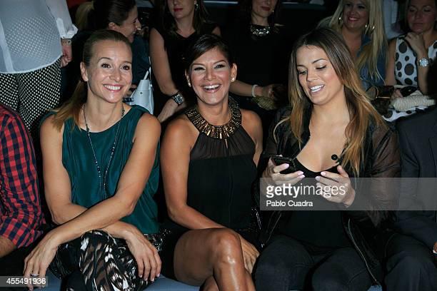 Mar Regueras Ivonne Reyes and Alison Eckmann attend Mercedes Benz Fashion Week Madrid at Ifema on September 15 2014 in Madrid Spain