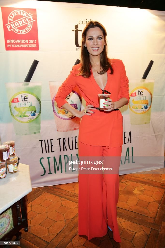 Mar Saura presents Natural Fresh Tea on March 22, 2017 in Madrid, Spain.