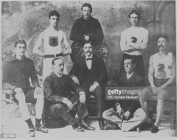 Members of the American delegation between events during the 1896 Olympic Games in Athens, Greece. \ Mandatory Credit: IOC/Olympic Museum /Allsport