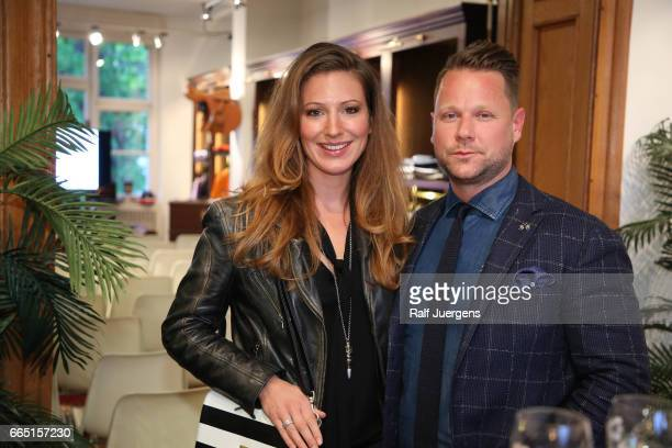 Mara Bergmann and Bastian Ammelounx attend the La Martina get together at their showroom on April 5 2017 in Duesseldorf Germany