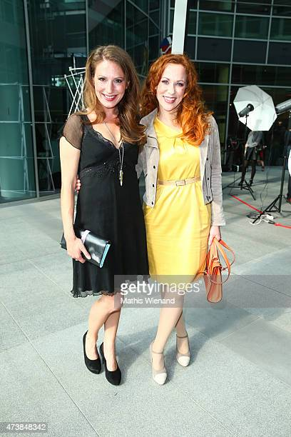 Mara Bergmann and Madleine Kaniuth pose during the pre golf party of the 7th Golf Charity Cup hosted by the Christoph Metzelder Foundation on May 17...