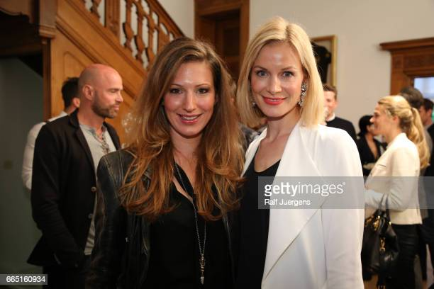 Mara Bergmann and Pia Sarpei attend the La Martina get together at their showroom on April 5 2017 in Duesseldorf Germany