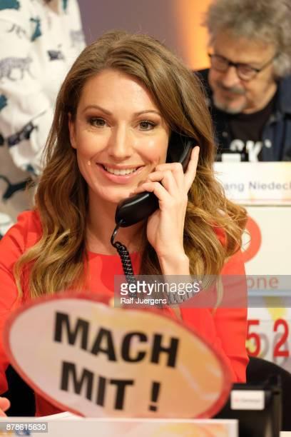 Mara Bergmann attends the 22nd RTL Telethon on November 24 2017 in Huerth Germany