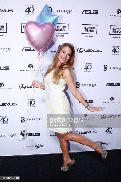 Mara Bergmann attends the Breuninger after party during Platform Fashion July 2017 at Areal Boehler on July 21 2017 in Duesseldorf Germany