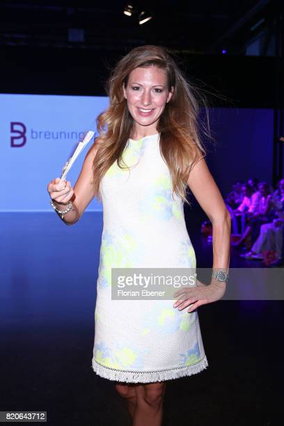 Mara Bergmann attends the Breuninger show during Platform Fashion July 2017 at Areal Boehler on July 21 2017 in Duesseldorf Germany