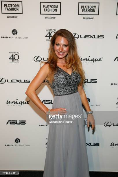 Mara Bergmann attends the Unique show during Platform Fashion July 2017 at Areal Boehler on July 22 2017 in Duesseldorf Germany