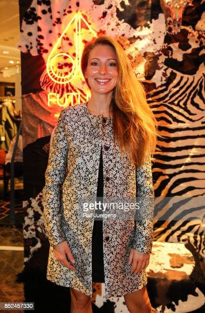 Mara Bergmann poses during the store event 'Moose Knuckles at Breuninger The Future Tribe Party' on September 23 2017 in Duesseldorf Germany