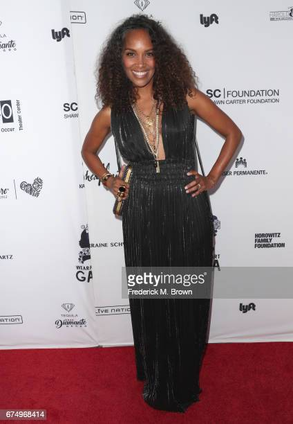Mara Brock Akil attends the Wearable Art Gala at California African American Museum on April 29 2017 in Los Angeles California
