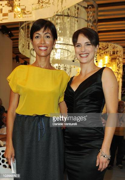 Mara Carfagna and Lorena Bianchetti attend the Equal Opportunity Award Ceremony at the Hotel Exclesior during the 67th Venice International Film...