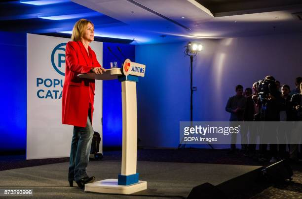 María Dolores de Cospedal minister of Defence during the political rally of the Popular Party of Catalonia The Popular Party of Catalonia has counted...