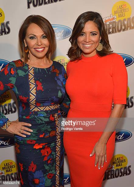 María Elena Salinas and Pamela SilvaConde attend Las 25 Mujeres Mas Poderosas luncheon hosted by People En Espanol at Moore Elastika on September 18...