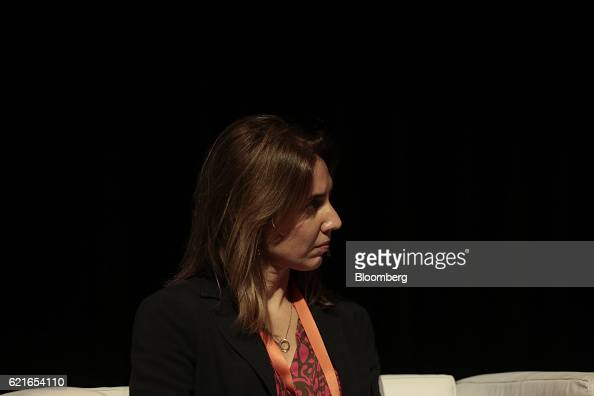 Mara Eugenia Sosa Taborda sustainability manager at Itau Unibanco listens during a panel discussion at the 50th Anniversary Federation of Latin...