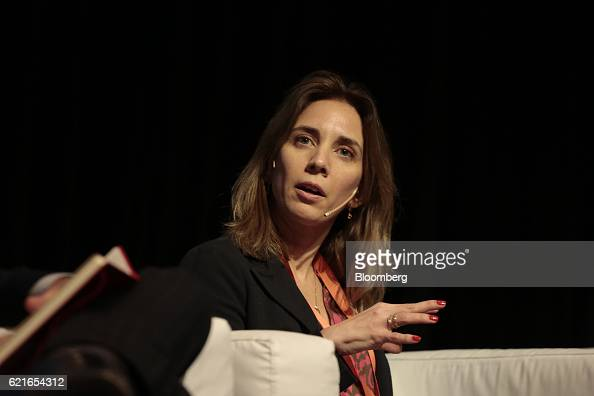 Mara Eugenia Sosa Taborda sustainability manager at Itau Unibanco speaks during a panel discussion at the 50th Anniversary Federation of Latin...
