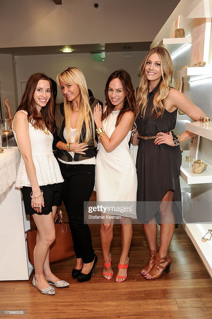 Mara Ferreira, Cece Skye, Sydney Summer and Devin Rachel attend JewelMint Celebrates The Launch Of Collective And Previews New Collections From Cher Coulter And CC Skye at on July 18, 2013 in Los Angeles, California.