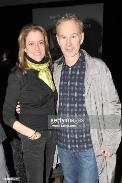 Mara Manus and John McEnroe attend TIME INC Live and Unfiltered Presents ROUGH JUSTICE Hosted by FORTUNE at Time and Life Building Screening Room on...