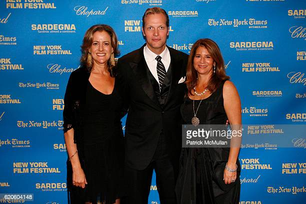 Mara Manus Marc Hruschka and Anne Tenenbaum attend CHOPARD sponsors NEW YORK FILM FESTIVAL Opening Night at Avery Fisher Hall on September 26 2008 in...