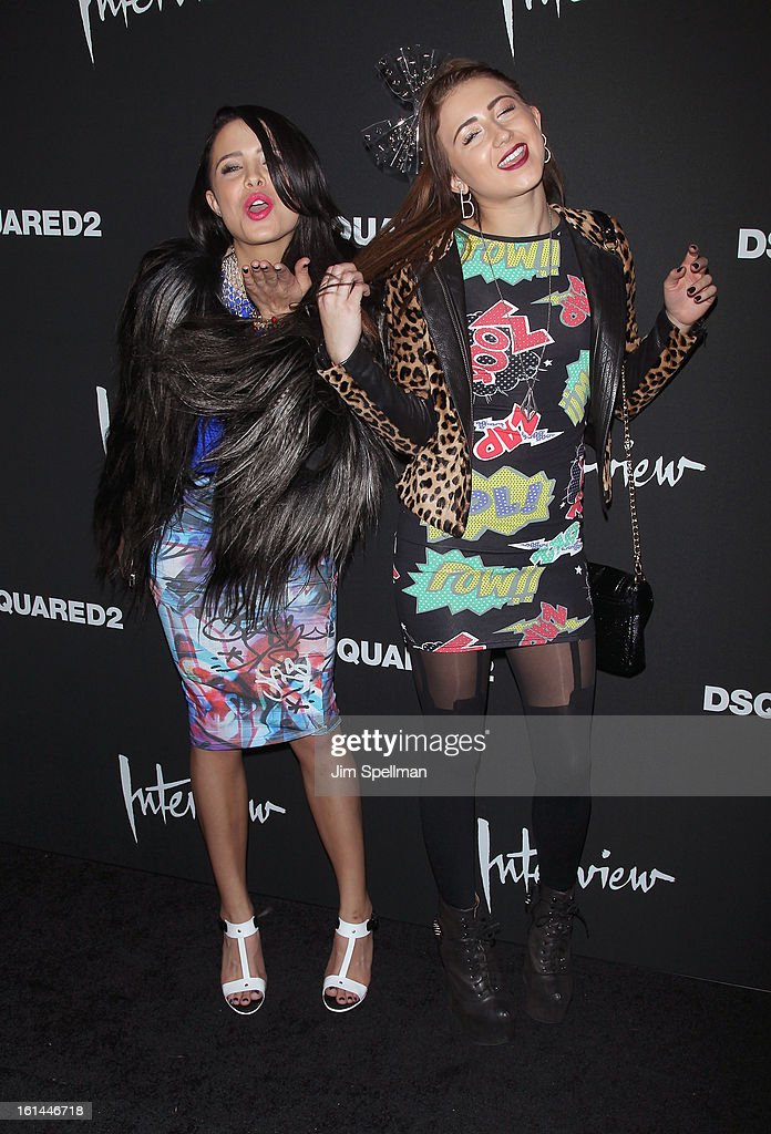 Mara Teigen and Brittany Pilgrim attend the DSQUARED2 x Interview Party at Copacabana on February 10, 2013 in New York City.