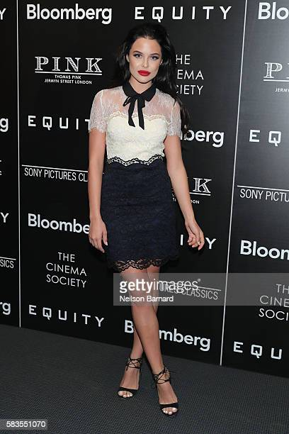 Mara Teigen attends a screening of Sony Pictures Classics' 'Equity' hosted by The Cinema Society with Bloomberg and Thomas Pink at The Museum of...