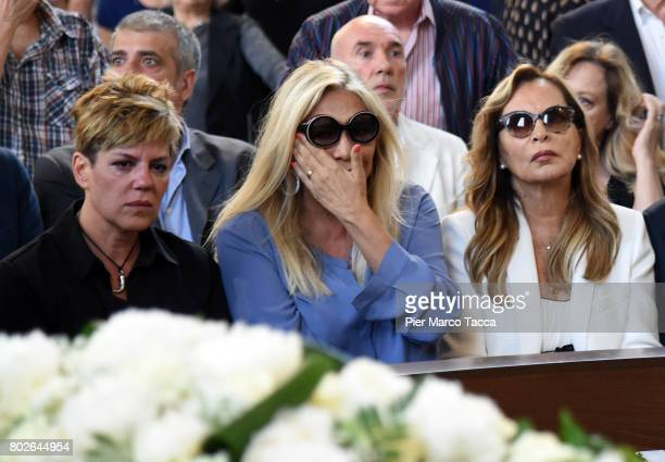Mara Venier and Silvana Giacobini attend Paolo Limiti funeral services at the church of Santa Maria Goretti on June 28 2017 in Milan Italy Paolo...