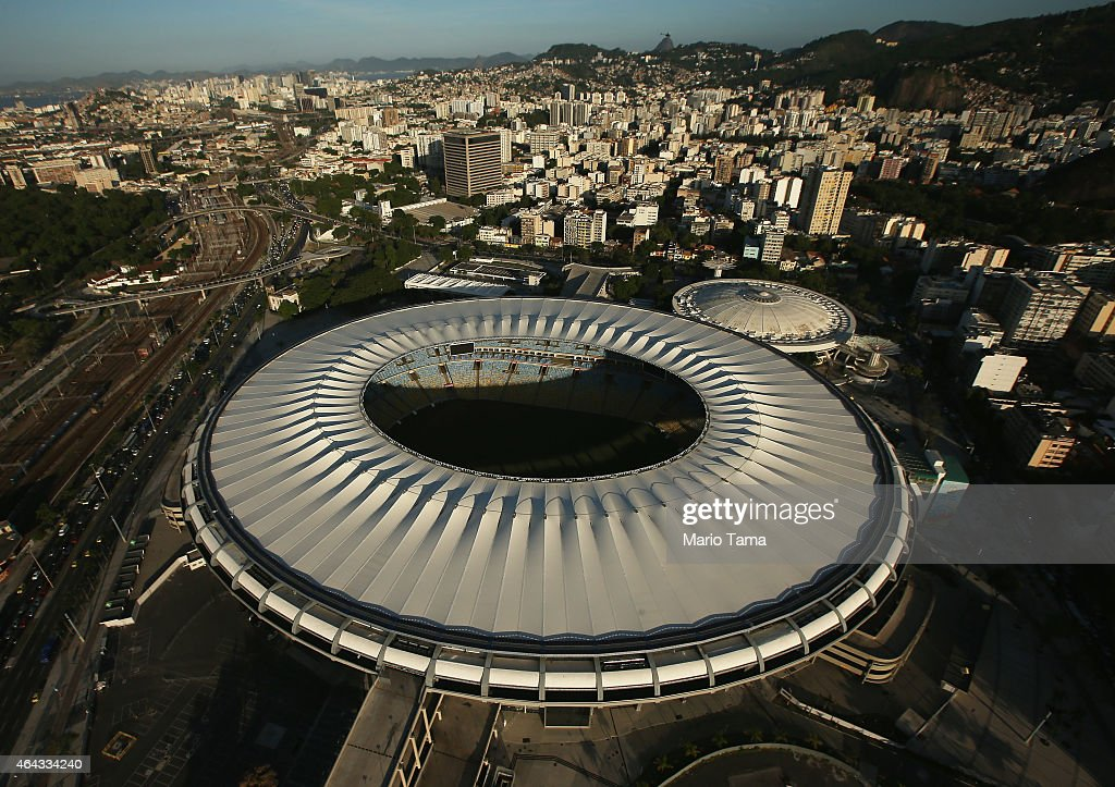 Maracana Stadium a Rio 2016 Olympic Games venue is shown on February 24 2015 in Rio de Janeiro Brazil The city of Rio continues to prepare to host...