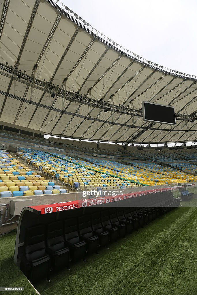 Maracana Stadium is viewed during the 1st World Press Briefing for the Rio 2016 Olympic Games on October 23, 2013 in Rio de Janeiro, Brazil. Preparations for the Rio 2016 Olympic Games are continuing and the venue will host the Opening Ceremony, Closing Ceremony and football finals during the Games.