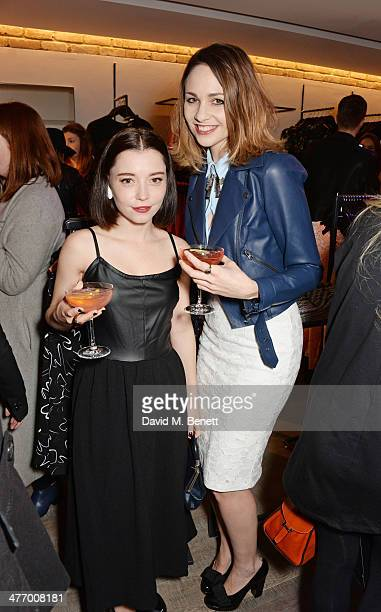 Marama Corlett and Tuppence Middleton attend the Warehouse Oxford Street Flagship Store Launch on March 6 2014 in London England