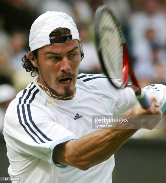Marat Safin defeats Paradorn Srichaphan 62 64 64 in the first round of the 2005 Wimbledon Championships on June 20 2005