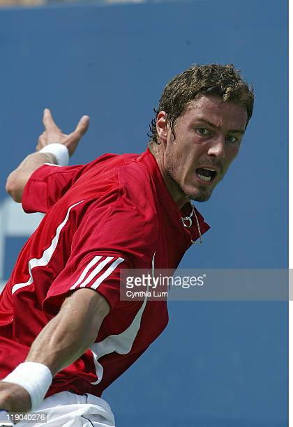 Marat Safin during his fourth round match against Tommy Haas at the 2006 US Open at the USTA Billie Jean King National Tennis Center in Flushing...