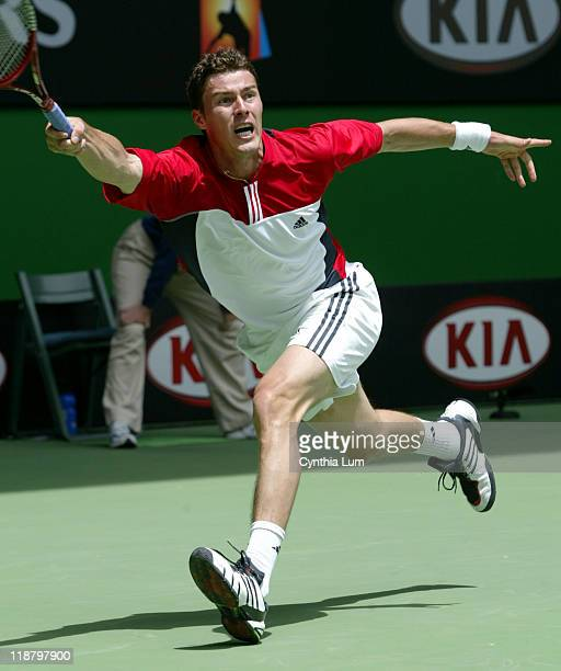 Marat Safin pulls out a 75 16 46 60 75 victory over Todd Martin at the Australian Open Melbourne January 23 2004