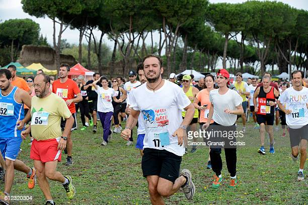 Marathon at the park of the Aqueducts in memory of Stefano Cucchi the young man who died Oct 22 2009 in custody in hospital the Memorial in its...