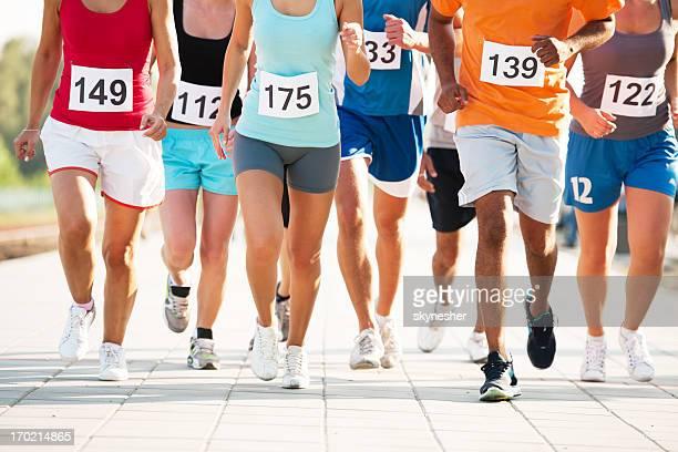 マラソンます。