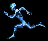 Marathon (human bone is running) ,(Whole body x-ray : head ,neck ,shoulder ,arm ,elbow ,forearm ,hand ,finger ,joint ,thorax ,abdomen ,back,pelvis ,hip ,thigh ,leg ,knee ,foot ,heel)