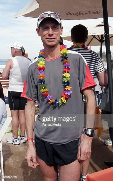 Marathon runner Steve Moneghetti at the City to Surf Sun Herald Party on Bondi Beach Sydney