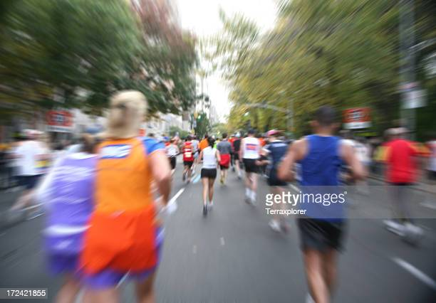 Marathon Runners In Motion