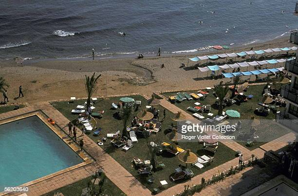 Marbella Terrace and swimming pool on the seashore