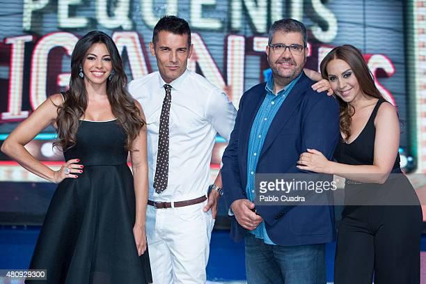 Marbelys Zamora Jesus Vazquez Florentino Fernandez and Monica Naranjo attend the 'Pequenos Gigantes' presentation at Picasso Studios on July 16 2015...