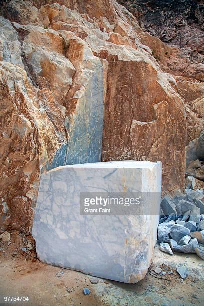 marble block sitting on earth