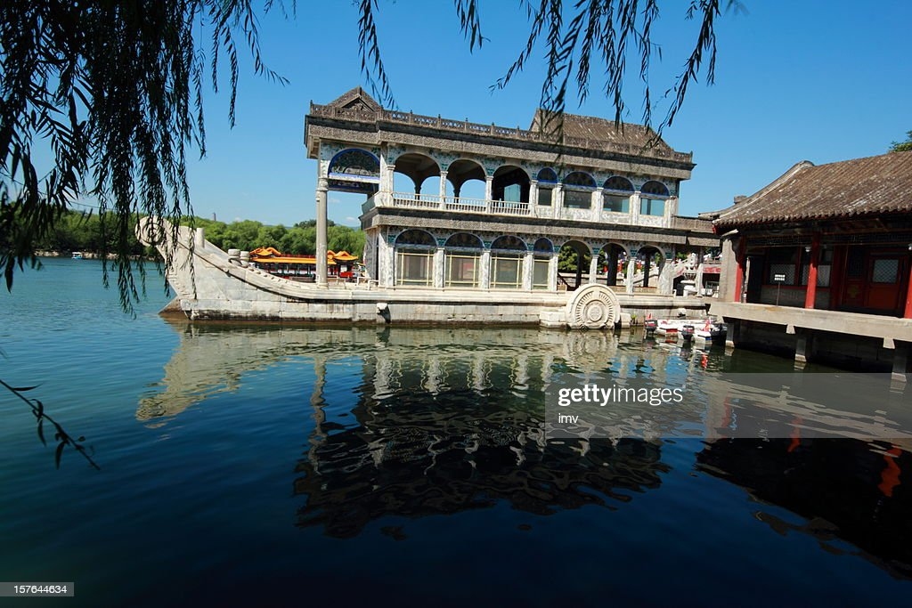 Marble boat, Summer Palace Beijing : Stock Photo