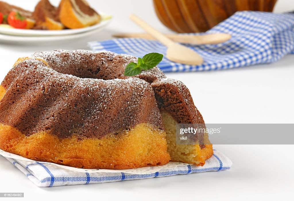 marble bundt cake : Stock Photo