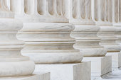 Columns at the US Supreme Court Building in Washington DC