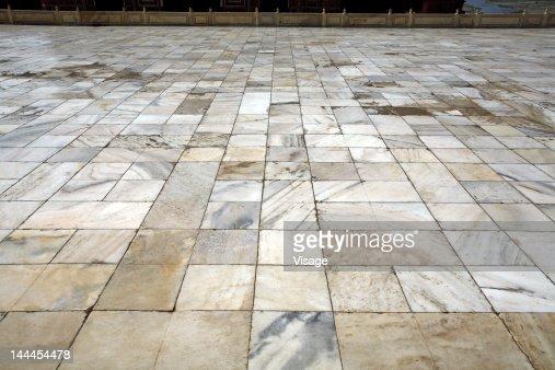 Marble flooring Taj Mahal : Stock Photo