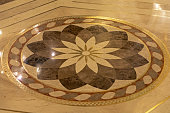 Decorative Marble Flower Floor Tiles in Crypt