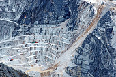 Marble quarry view from above