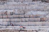 Turkey marble quarries on burdur ısparta road