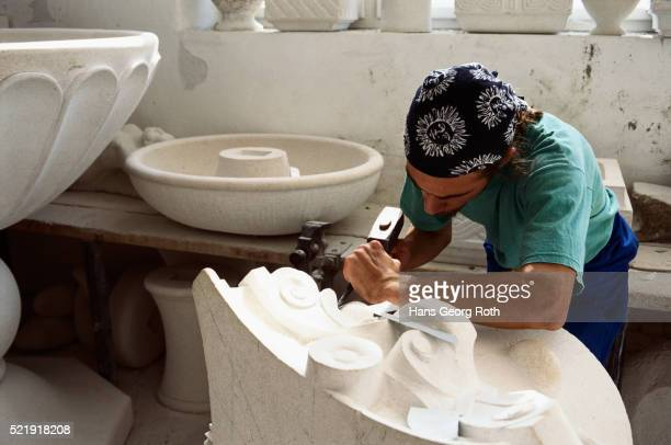 Marble Sculptor at work in Pucisca