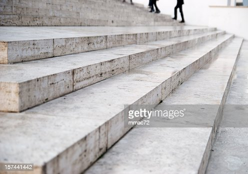 Marble stairs perspective