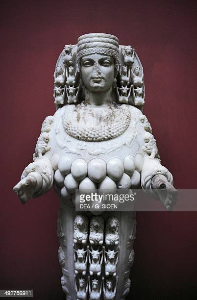 Marble statue of Artemis copy of the colossal statue of Artemision 125175 AD from Ephesus the Prytaneion Roman civilisation 2nd century AD